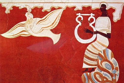 pylos-lyre-player-fresco
