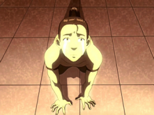Prince Zuko before punishment from his father.