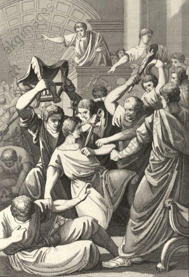 Tod des Tiberius Gracchus / aus: Rotteck - Death of Tiberius Gracchus / Rotteck - Gracchus, Tiberius Sempronius