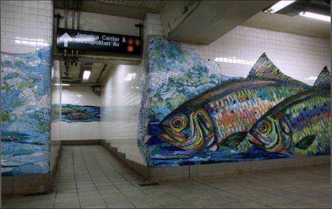 Water and Fish Flooded NYC Subway During Hurrican Sandy