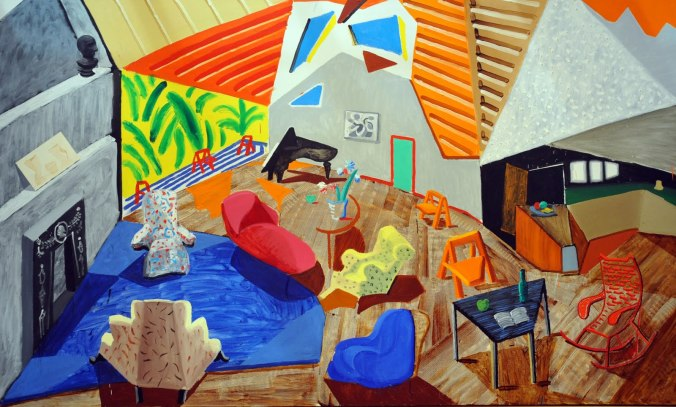 David Hockney - Large Interior, Los Angeles (1988)